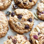Gluten Free Oatmeal Cookies – 4 Ways: learn how to make the best gluten free oatmeal cookies, 4 yummy ways: Chocolate Chip, Oatmeal Raisin, Trail Mix and Simple & Easy! #GlutenFree #Oatmeal #Cookies #Vegan | Recipe at BeamingBaker.com