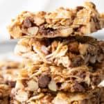Coconut Granola Bars (Paleo): chewy & healthy homemade granola bars bursting with coconut & nuts! Deliciously healthy granola bars—Paleo, Grain-Free, Vegan, Gluten Free. #GranolaBars #Paleo #Healthy #Vegan | Recipe at BeamingBaker.com