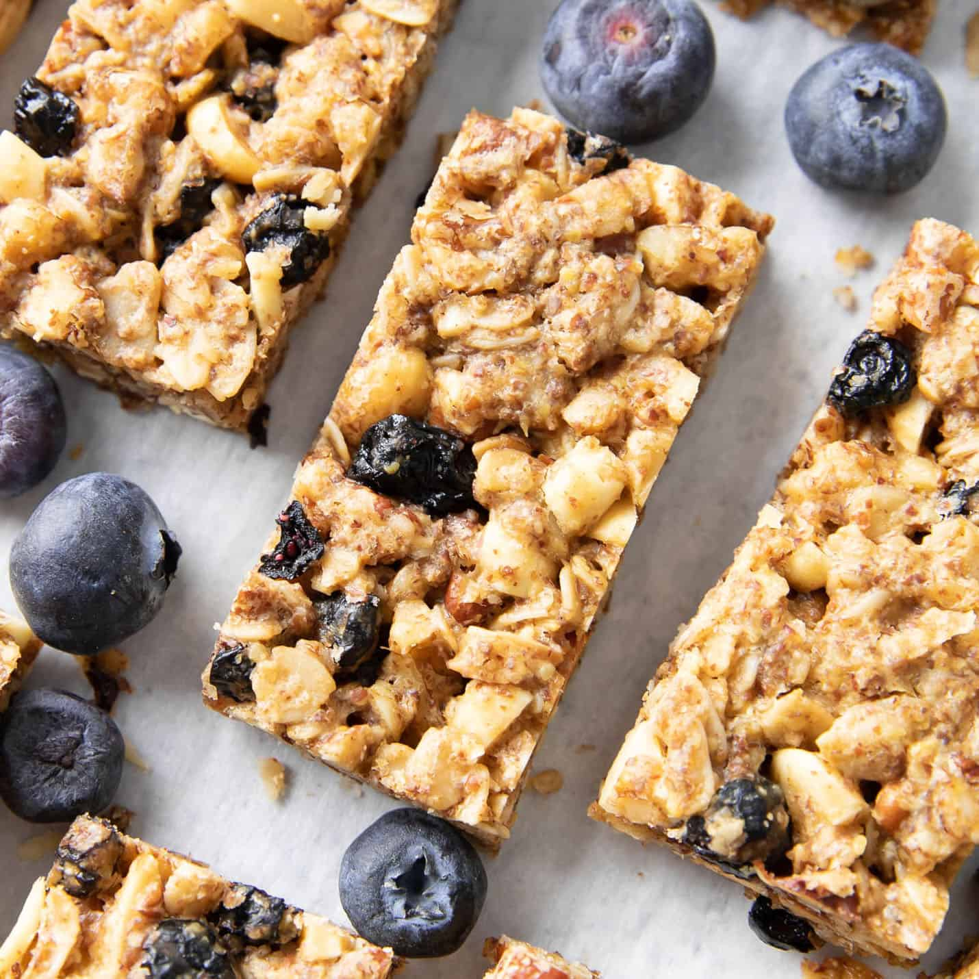 Healthy Homemade Blueberry Granola Bars Vegan Gf Beaming Baker